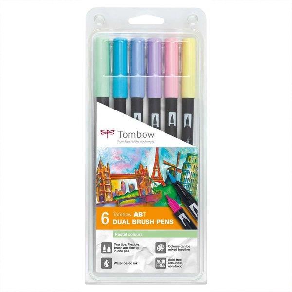Tombow ABT Dual Brush Pen Pastellfarben 6er Set