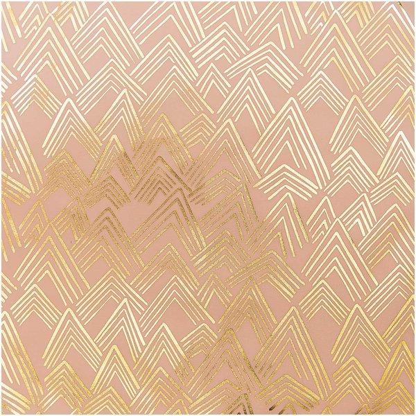 Rico Design Druckstoff Berge rosa 140cm
