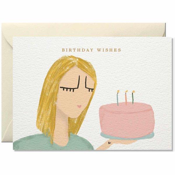 Nelly Castro Grußkarte Birthday Wishes 10,5x14,8cm