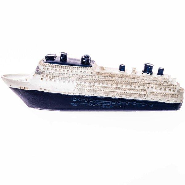 Kreuzfahrtschiff blau-weiß 16cm