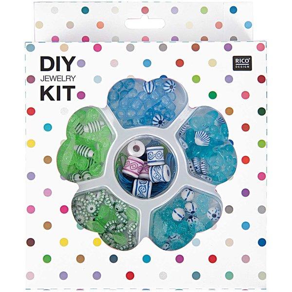 Rico Design DIY Perlenset für Kinder blau-grün 16x20x4cm