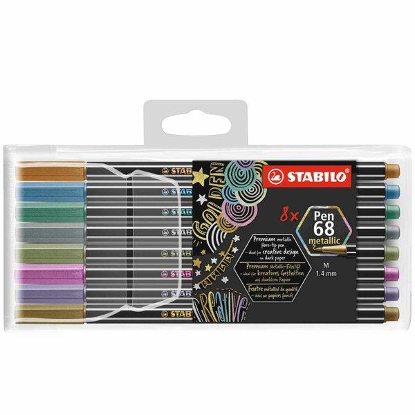 STABILO Pen 68 Metallic im Kunststoffetui 8 Farben