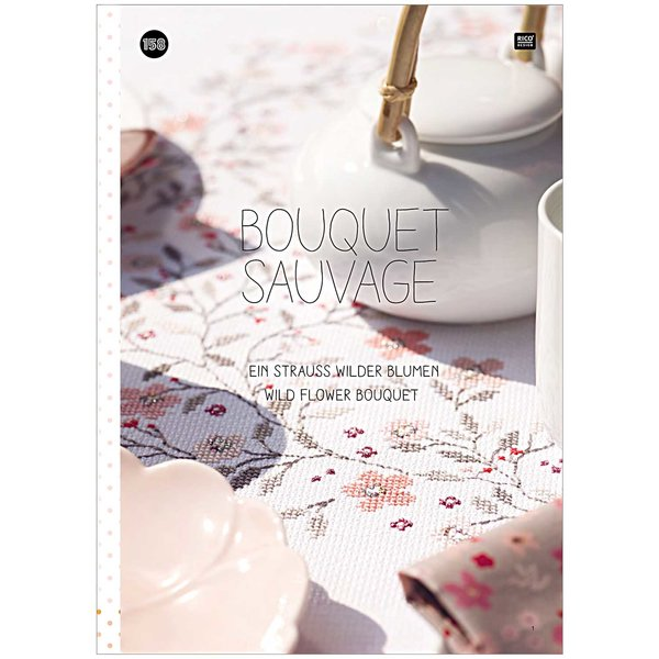 Rico Design Stickbuch Nr.158 Bouquet Sauvage