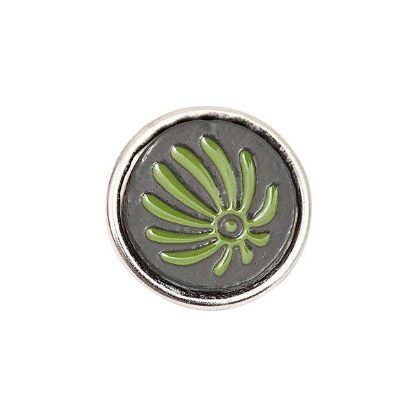 Rico Design Knopf Strahlen grün-blau 14mm