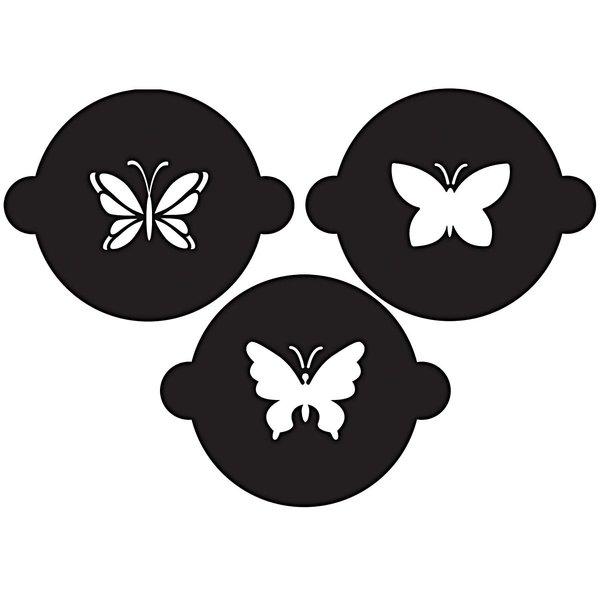 Rico Design Cupcake Schablonen Schmetterlinge 3er Set