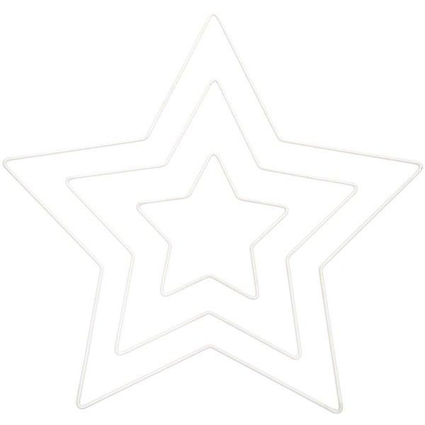 Rico Design Metallring Stern weiß