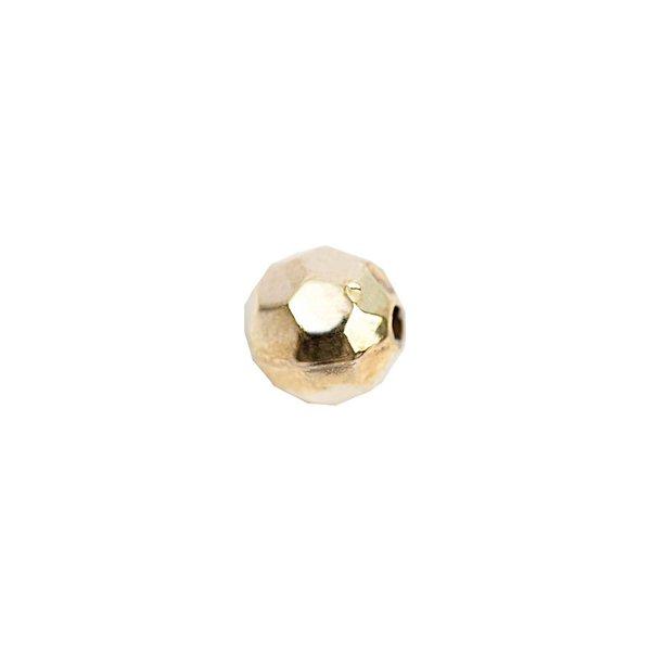 Rico Design Facettenkugel klein gold 5mm 30 Stück