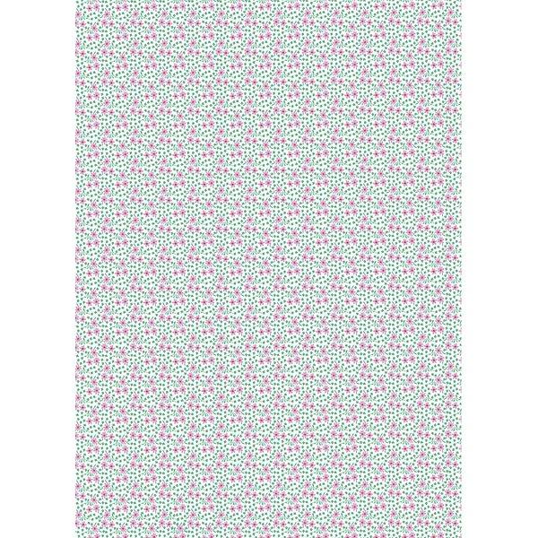 Rico Design Paper Patch Papier Miniblüten violett 30x42cm