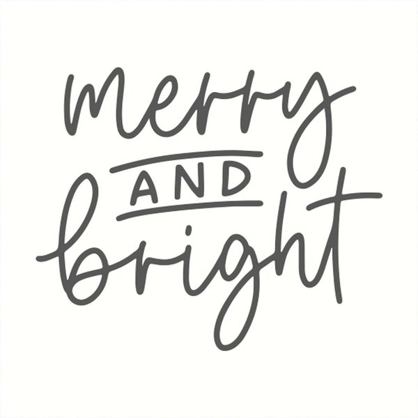 May&Berry Stempel merry and bright weiß 45x45mm