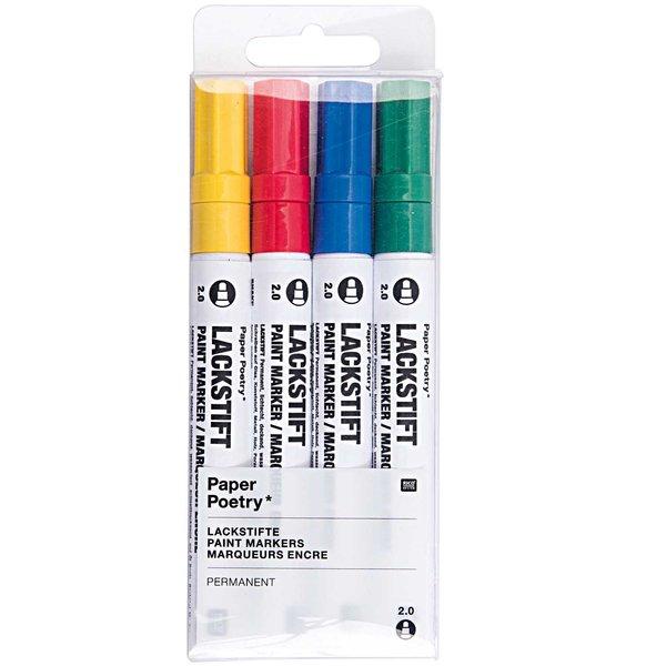 Paper Poetry Lackmarkerset mehrfarbig 2,0mm