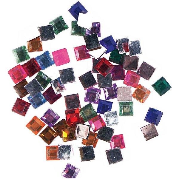 Rico Design Strass Quadrat mehrfarbig ca. 100 Stück