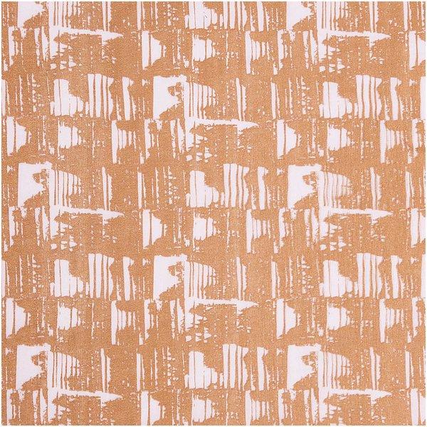 Rico Design Musselin-Druckstoff Nature Matters Muster braun-flieder 50x140cm
