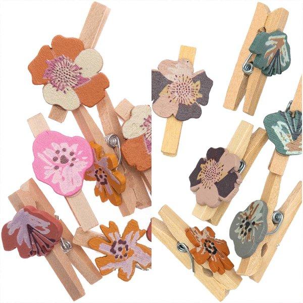 Ohhh! Lovely! Dekoklammern Blüte 8 Stück