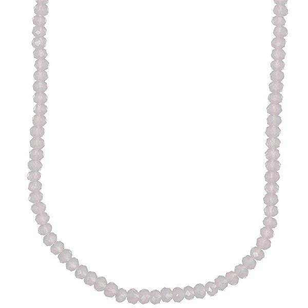 Rico Design Glasschliffkette rosa 90cm