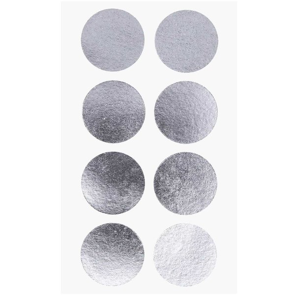 Paper Poetry Sticker Punkte silber 25mm 4 Bogen