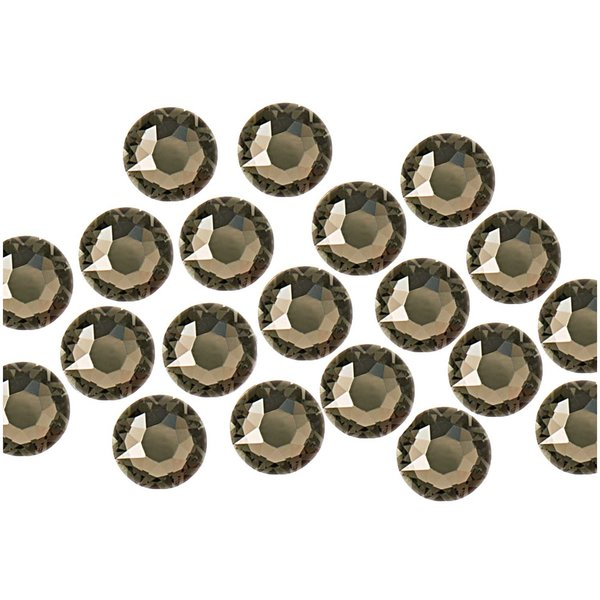Swarovski® Hot Fix Steine black diamond 4mm 20 Stück