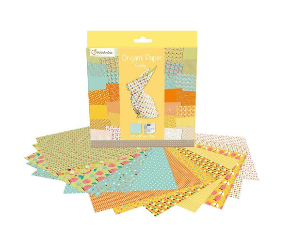 ExaClair Origami Papier Spring 20x20cm 60 Blatt