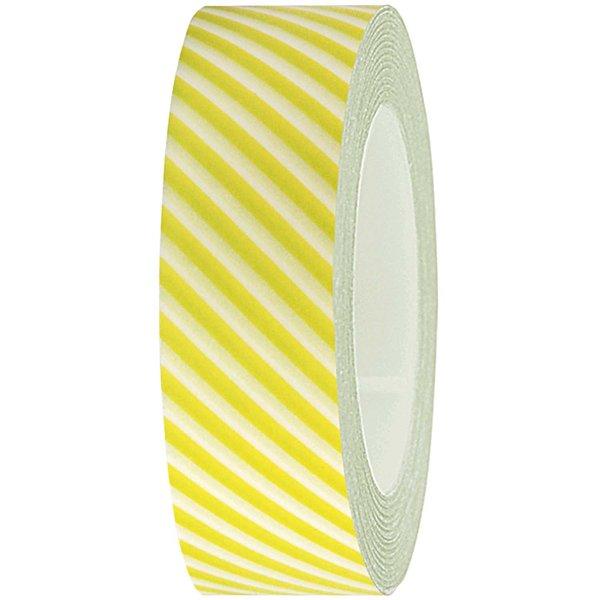 Rico Design Tape weiß-hellgrün gestreift 15mm 10m