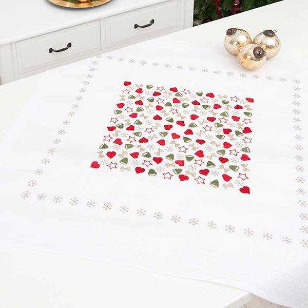 Rico Design Stickpackung Decke weihnachtliche Motive 80x80cm