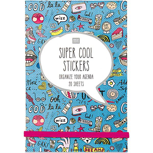 Paper Poetry Stickerbuch blau 20 Blatt