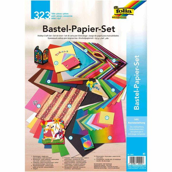 folia Bastelpapier Set 323teilig