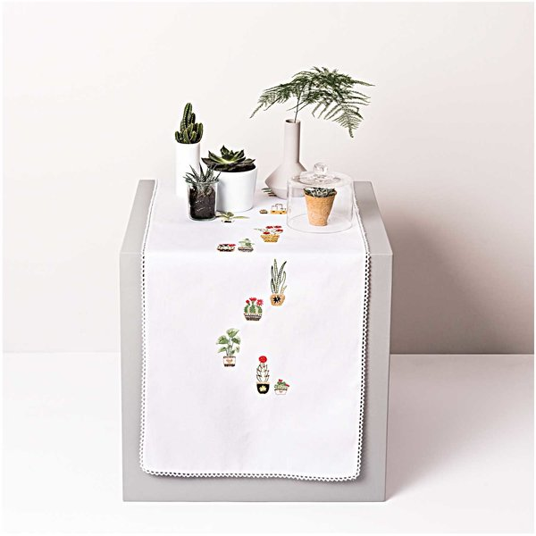 Rico Design Stickpackung Läufer Kakteen 40x150cm