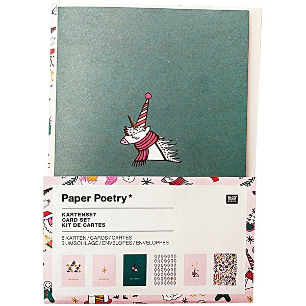 Paper Poetry Grußkartenset Magical Christmas A6 / C6 12teilig