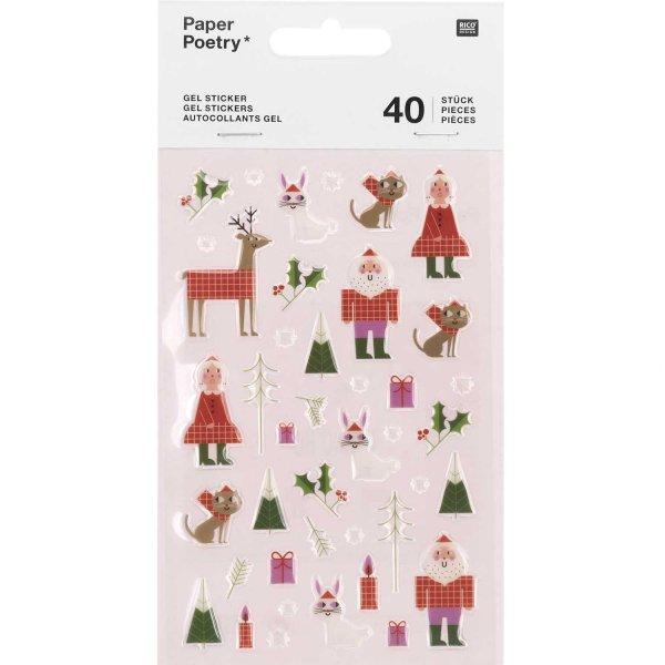 Paper Poetry Gelsticker Weihnachtsmann 1 Blatt
