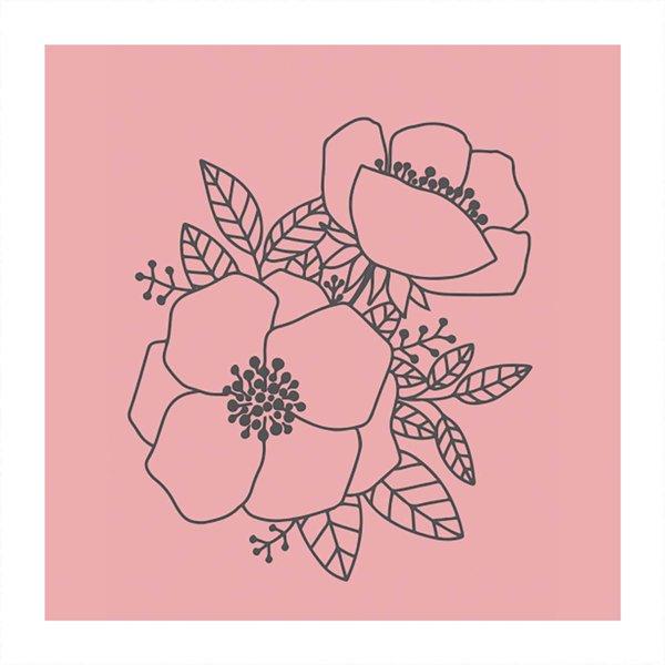 May&Berry Stempel Blüten rosa 35x45mm