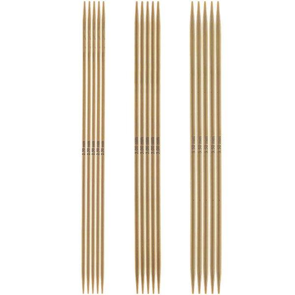 Rico Design Nadelspiel 15cm Bambus