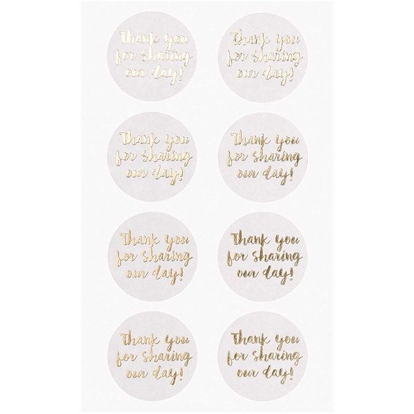 Paper Poetry Sticker Thank you for sharing our day weiß 4 Blatt