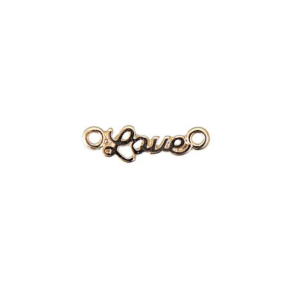 Jewellery Made by Me Schriftzug Love gold 19x6mm