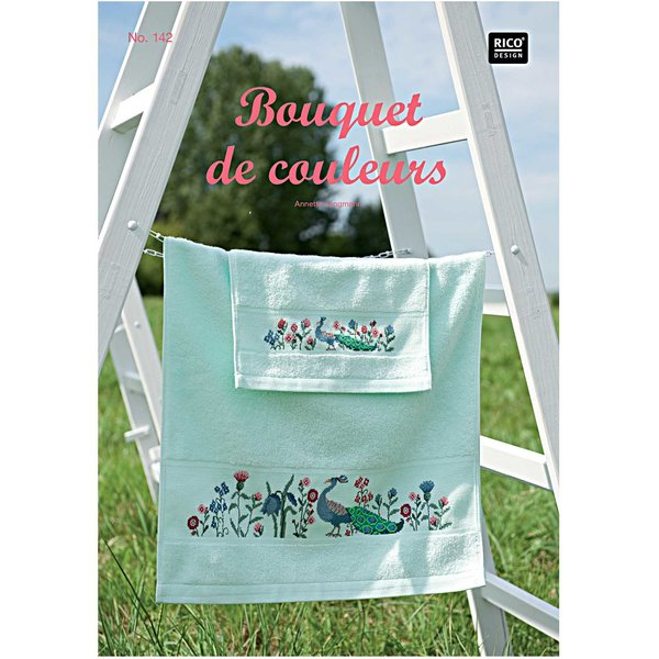 Rico Design Stickbuch Bouquet de couleurs Nr.142