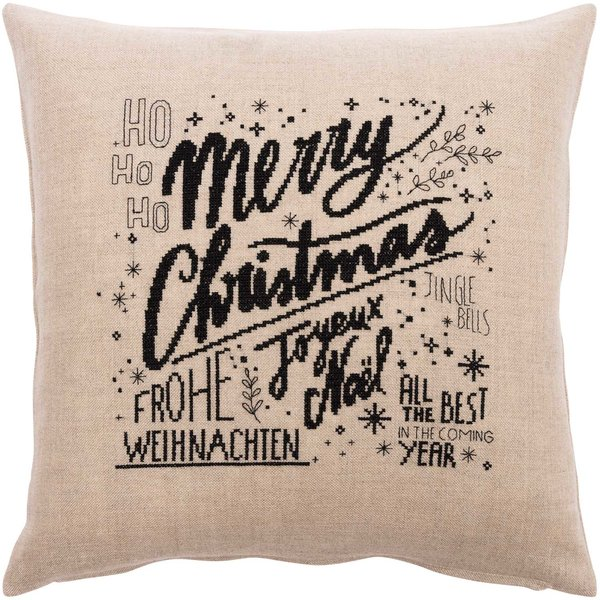 Rico Design Stickpackung Kissen Merry Christmas 40x40cm