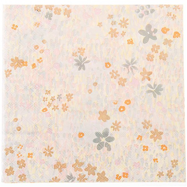 YEY! Let's Party Servietten Crafted Nature Blumenwiese gelb 33x33cm 20 Stück