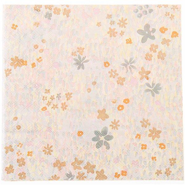 YEY! Let's Party Servietten Crafted Nature Blumenwiese gelb 33x33cm 20 Stück