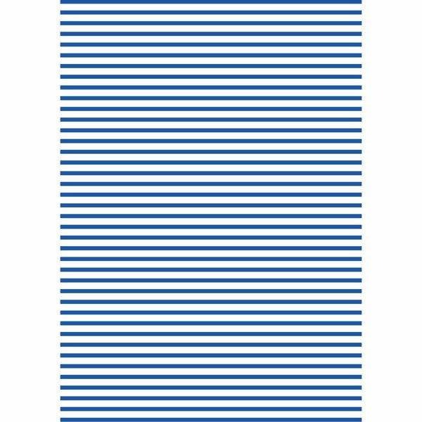 MARPA JANSEN Fotokarton Streifen weiß-blau 50x70cm 300g/m²
