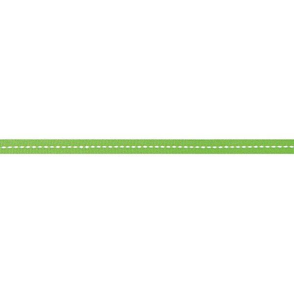 Rico Design Ribbon Streifen grün-weiß 2m