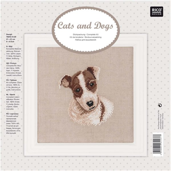 Rico Design Stickpackung Jack Russell Terrier 21x21cm
