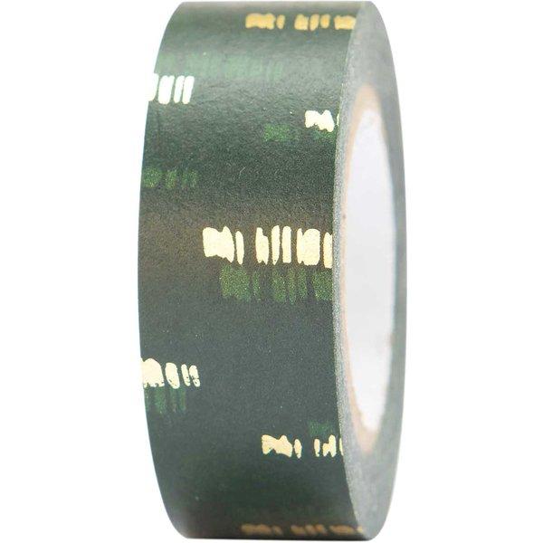 Paper Poetry Tape Struktur grün-gold 1,5cm 10m