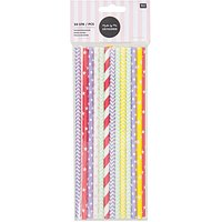 Rico Design Papierstrohhalme mehrfarbige Muster 24 Stück