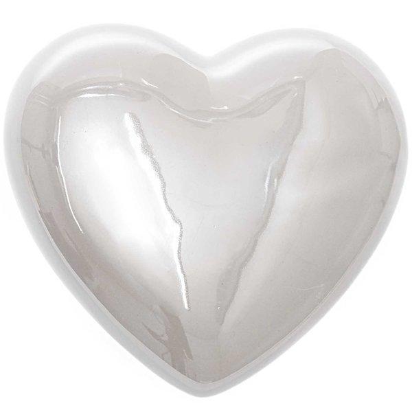 Deko-Herz Keramik pearl weiß 10x9,2cm