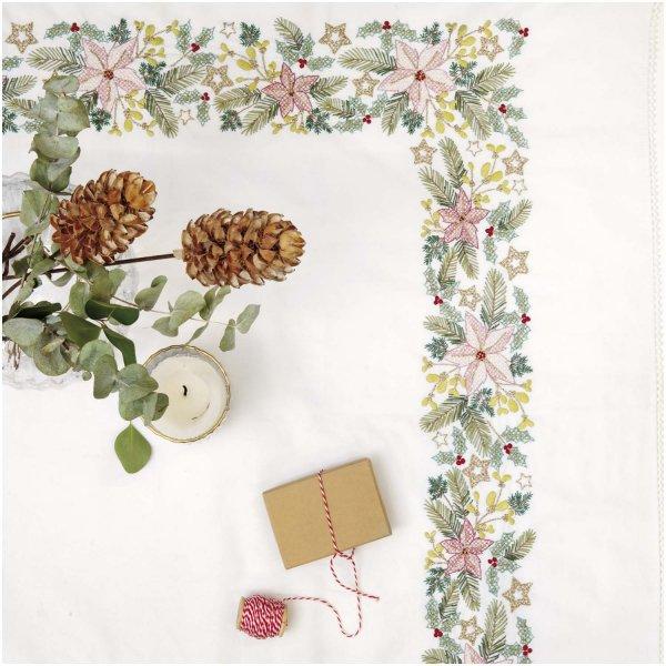 Rico Design Stickpackung Decke Weihnachtssterne 95x95cm