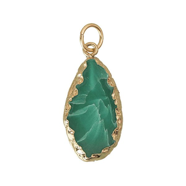 Jewellery Made by Me Anhänger grün 33x18x5mm