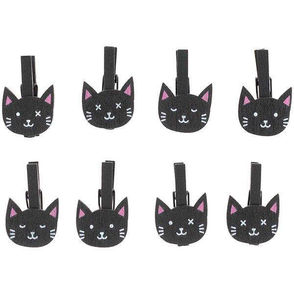 Ohhh! Lovely! Holzclips Katzen schwarz 8 Stück
