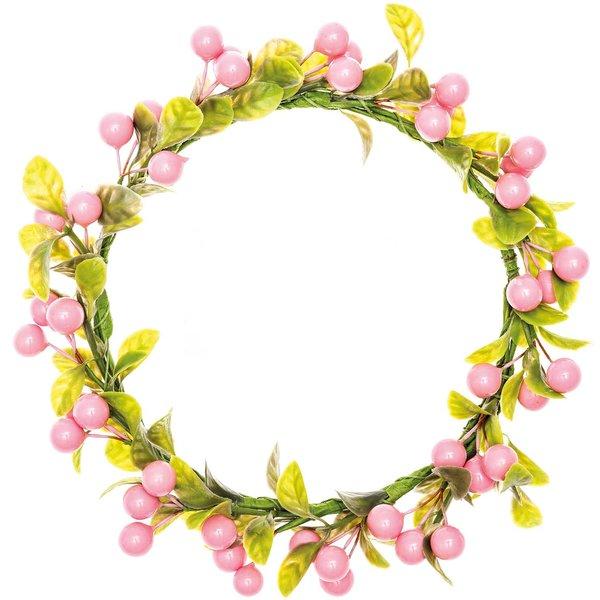 Ohhh! Lovely! Kranz Beeren & Blätter rosa 9cm