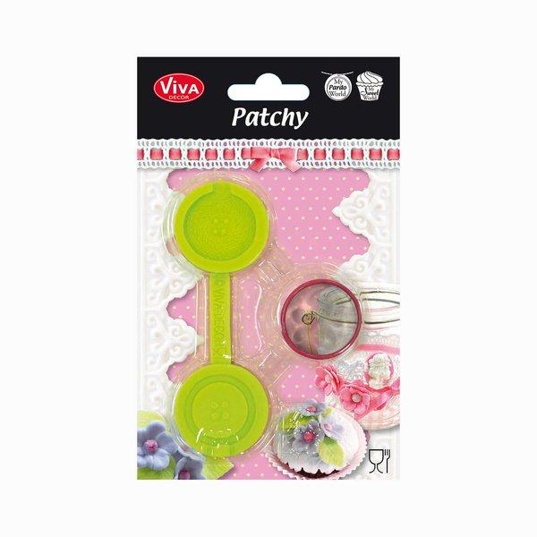 VIVA DECOR Patchy Knopf groß mit Ausstanzer 11cm