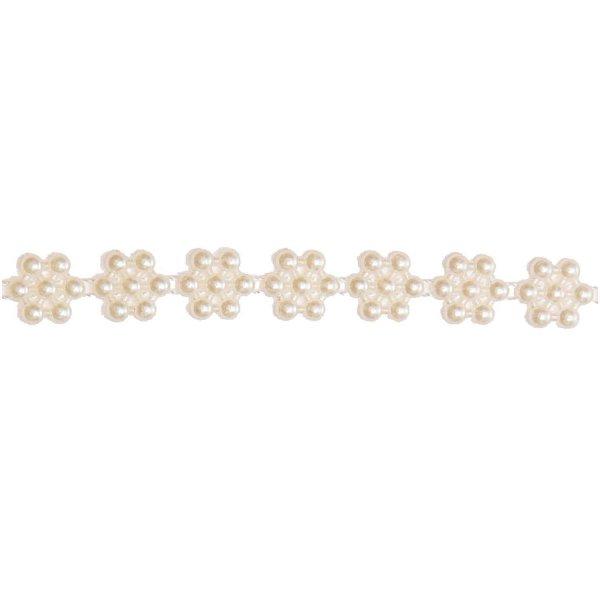 Perlenband weiß 10mm 1,5m