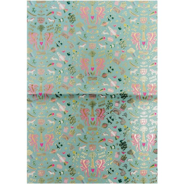 Rico Design Paper Patch Papier Wonderland neon-mint 30x42cm