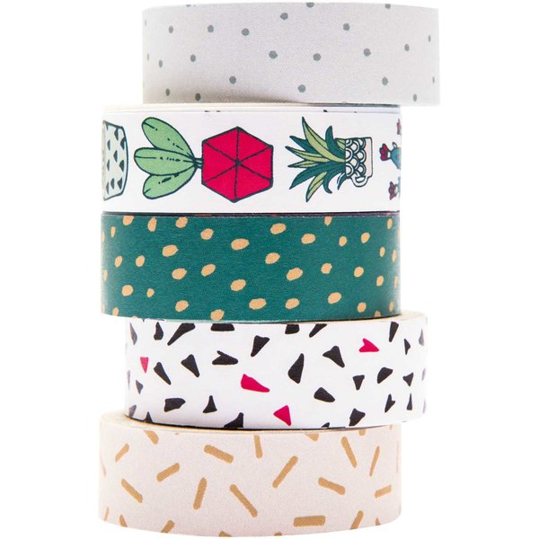 Paper Poetry Tape Set Hygge Plants 5teilig
